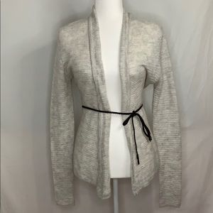 L.O.G.G Light Grey Wool Cardigan Sweater